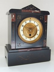 French Black Marble Clock