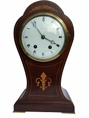 French 8-day mahogany striking mantle clock
