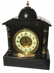 French black marble mantle clock